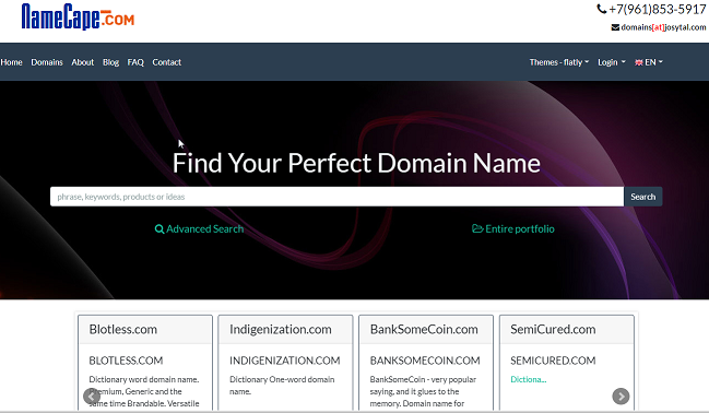 Premium domains Marketplace. Buy, Sell Domains
